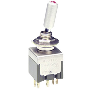 Illuminated Toggle Switch with LED M Series
