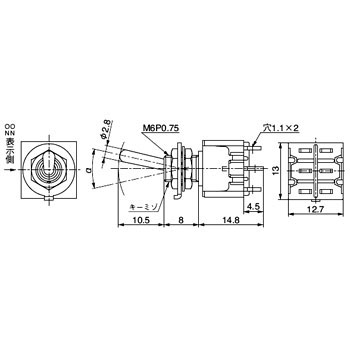 M-2020 Base Lever Toggle Switch M Series NKK SWITCHES (Nippon ...