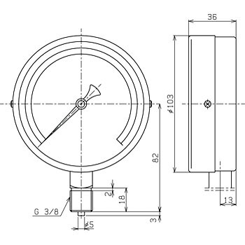General-Purpose Pressure Gauge, Star Gauge Ф100