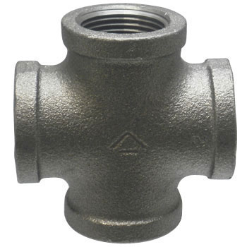 Cross Ductile Iron Pipe Joint, Black