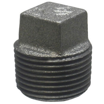 Malleable Cast Pipe Fitting Plug Black