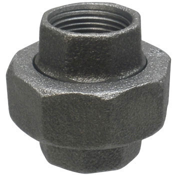 Union Malleable Cast Pipe Fitting Black