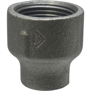 Reducing Socket Malleable Cast Pipe Fitting Black