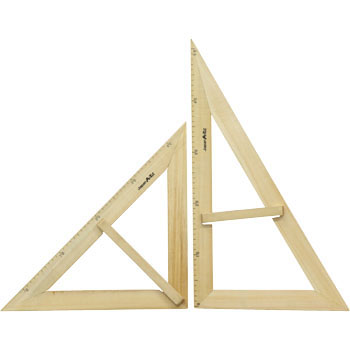 Large Triangle Ruler Set, Magnet, Wooden, A Type
