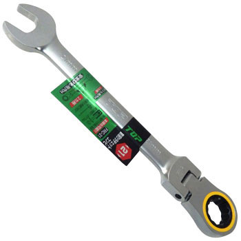 Adjustable Head Ratchet Wrench, Combination Type