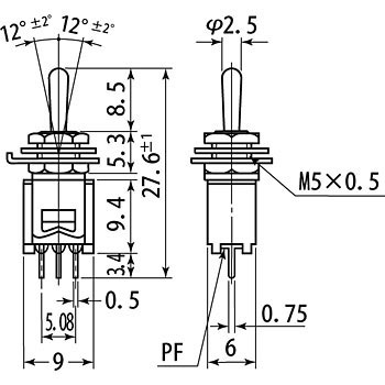 Toggle Switch MS-620