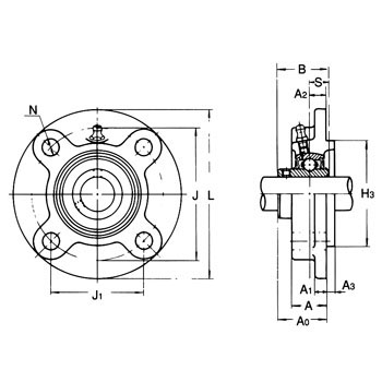 Spigot joint circled flange type unit
