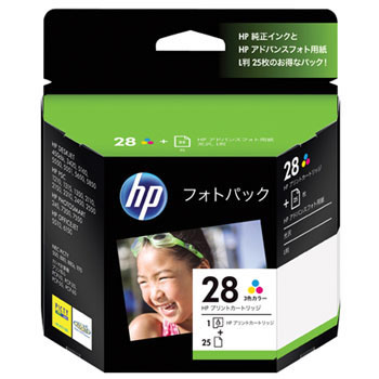 HP28/L-size Photo Paper Pack 3 Colors