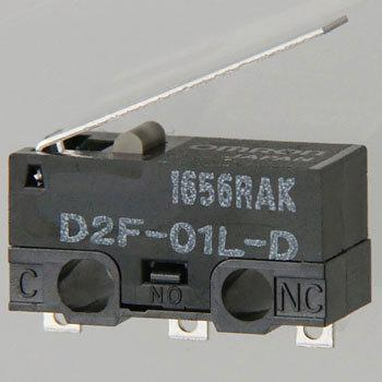 Ultra Miniature Basic Switch D2F, Hinge , Lever Type