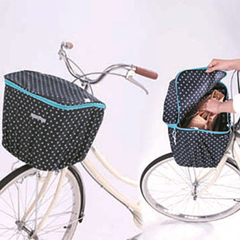 Polka Dots Front Basket Cover Double Doors