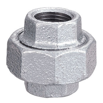 Unions, White Heart Malleable Cast Iron, Pipe Fitting