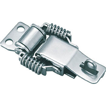 Stainless Steel Draw Latch,Spring Type with Lock Keyhole