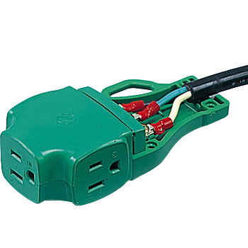 Replacement Plug, Triple Outlet, Grounding