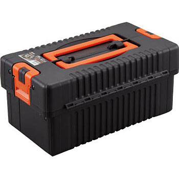TRUSCO 2 Stage Hard Tool Box, Black
