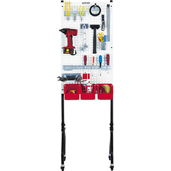 One-Side Pegboard, Casters