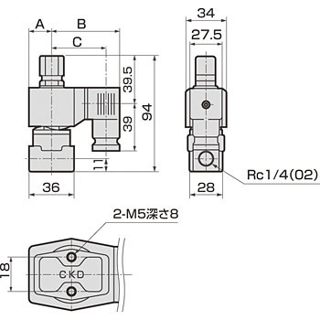 Direct acting 3 port valve universal type AG