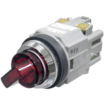 phi 30 Series ASLN Illuminated LED Selector Switch, 45deg3Notch 2a