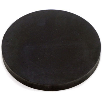 Rubber Plate, Natural, Black