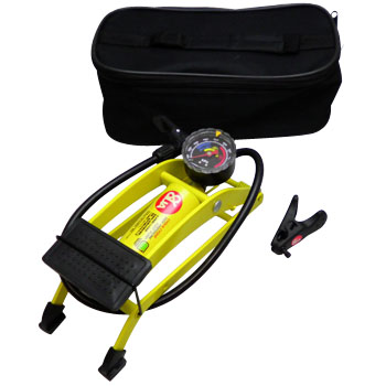 Bike Foot Air Pump Tire Inflator, HIGH PRESSURE FOOT PUMP