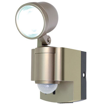 Battery-powered 3W LED sensor light