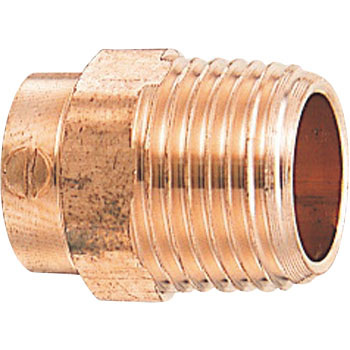Copper tube outer screw adapter