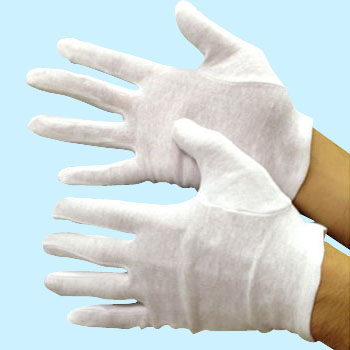 Cotton Smooth Gloves, With gusset
