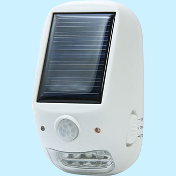 Outdoor type solar-powered LED sensor light