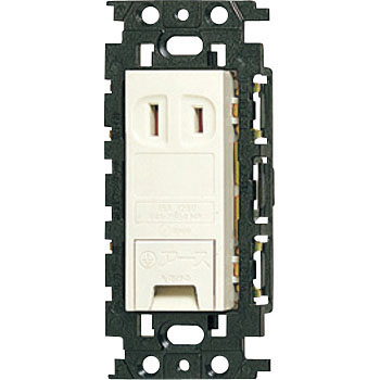 Embedded Terminal Grounded Outlet, Flat Type