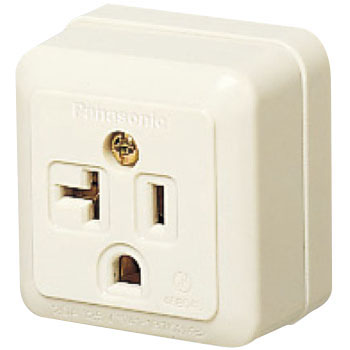 Grounded Square Type Outlet for Both 15A And 20A