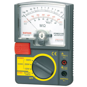 3 Range Analog Insulation Resistance Meter