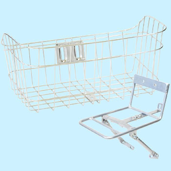 Stainless Steel Wide Basket,with Aluminium Carrier