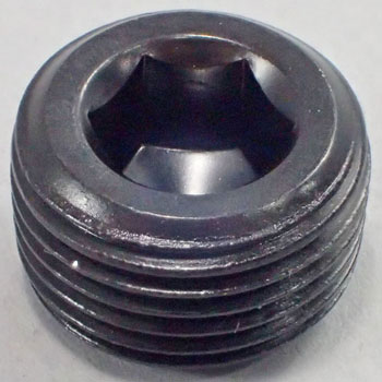 Hex Socket Taper Screw Thread, Structural Carbon Steel, Black Oxide Finish