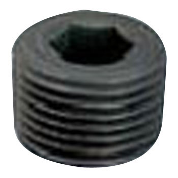 Hex Socket Taper Screw Thread, NPT, S45C, Black Oxide Finish