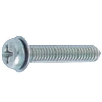 Phillips Pan Head Screw, PK=1, JIS Small Washer Build In, Stainless Steel, Pack Product