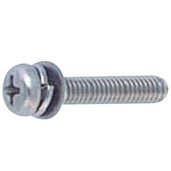 Phillips Pan Head Screw, I=3, SW Plus ISO Washer Build In, Stainless Steel, Pack Product