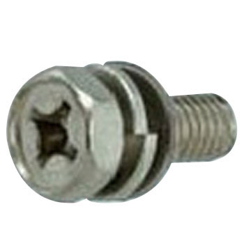 Phillips Socket Head Cap Screw, P=4, SW Plus JIS Small Washer Build In, Stainless Steel