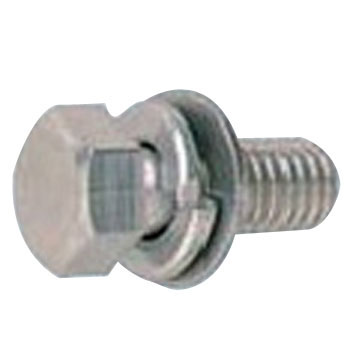 Hex Trimmed Head Bolt, P=4, SW Plus JIS Small Washer Build In, Stainless Steel, Pack Product