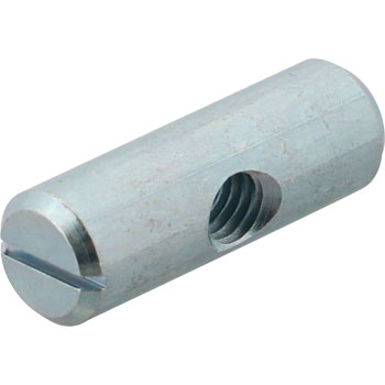 JRN Slotted Circular Nut, Iron Uni Chromate, Pack Product