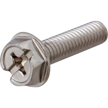 Phillips Slot Combination Hex Flange Tapping Screw, Stainless Steel, Pack Product