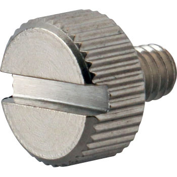 Slotted Knurled Screws, Stainless Steel