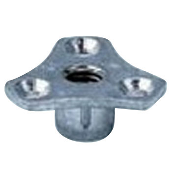 Insert Nut Type J, Iron, Trivalent White, Pack Product
