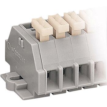 Relay terminal block spring type Fixing flange Terminal block 261