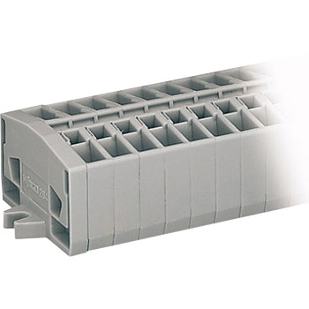 Relay terminal block (spring) terminal block with a 264 series snap-in foot