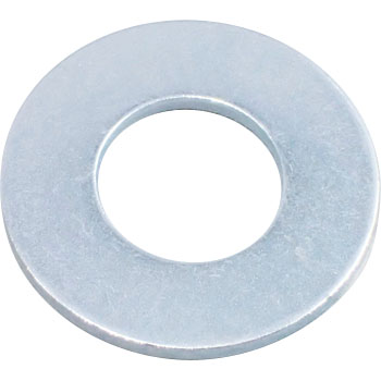 Round Washer, JIS, Iron, Uni Chromate