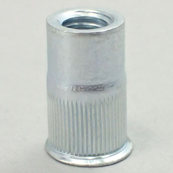 POP Knurling Nut SFH SF, RLT, Iron, Trivalent White, Pack Product