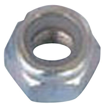 Nylon Nut, Iron, Uni Chromate