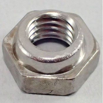 Hard Lock Nut H-1 With Rim Stainless Steel