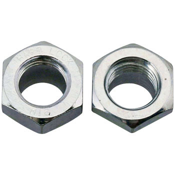 Hard Lock Nut thin (iron / trivalent White)