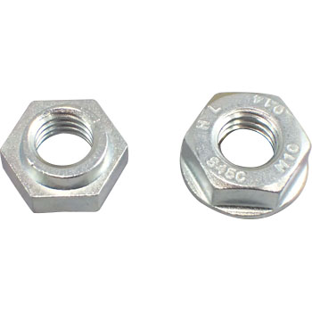 Hard lock nut (S45C (H) / trivalent white)
