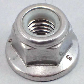 Nylon Flange Lock Nut, Stainless Steel